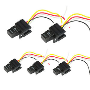 Magnificent 5Pack 12V 30A Relays Socket For Car Electric Fan Fuel Pump Light Wiring Cloud Dulfrecoveryedborg