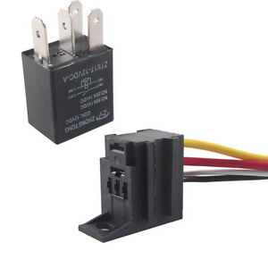 Strange Dc Car 30A 12V Relay Kit For Fan Fuel Pump Light Horn 4Pin 4 Wire Wiring Cloud Dulfrecoveryedborg