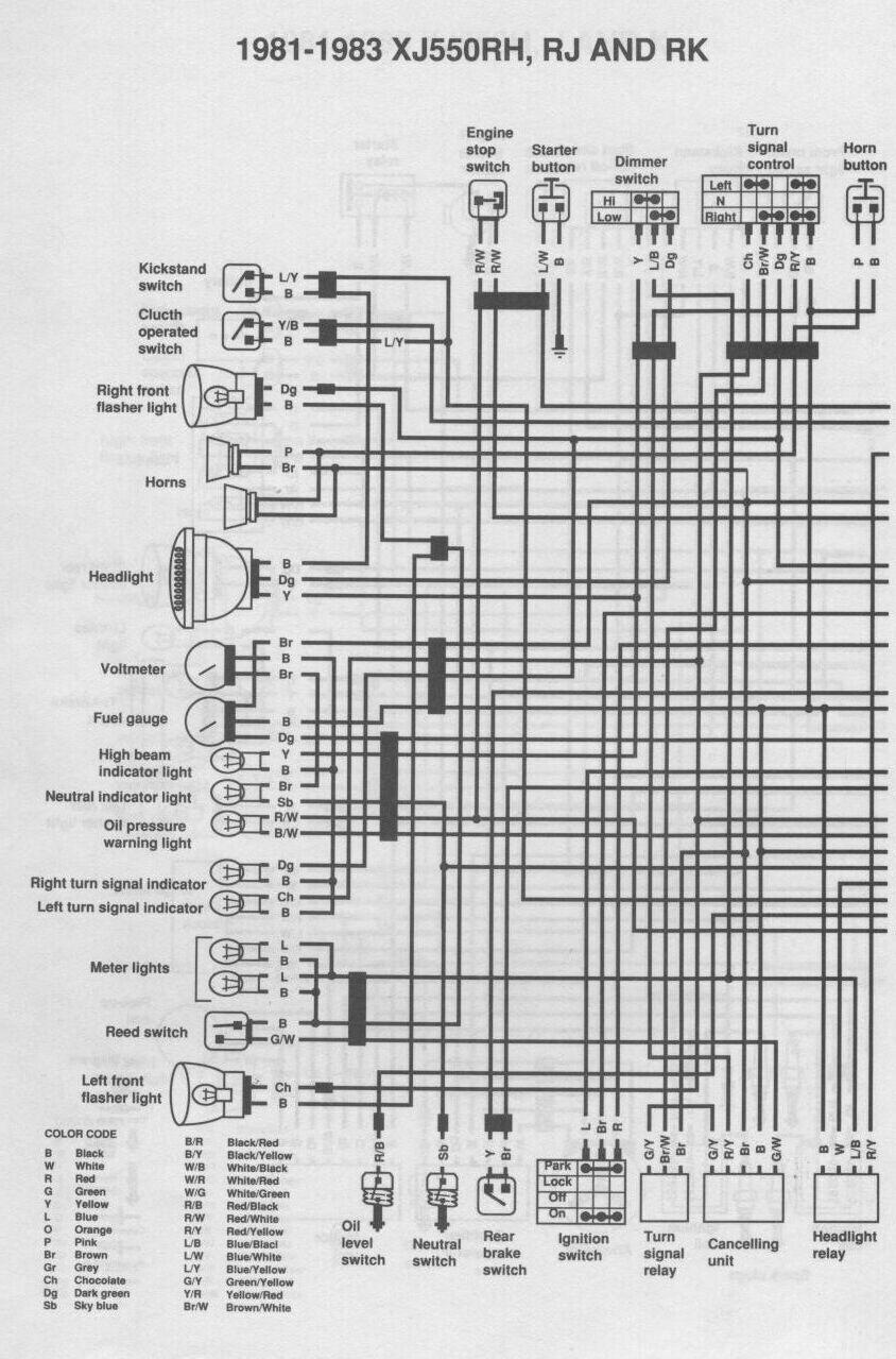 1983 yamaha maxim wiring diagrams zd 7463  1981 yamaha xj650 wiring diagram schematic wiring  1981 yamaha xj650 wiring diagram