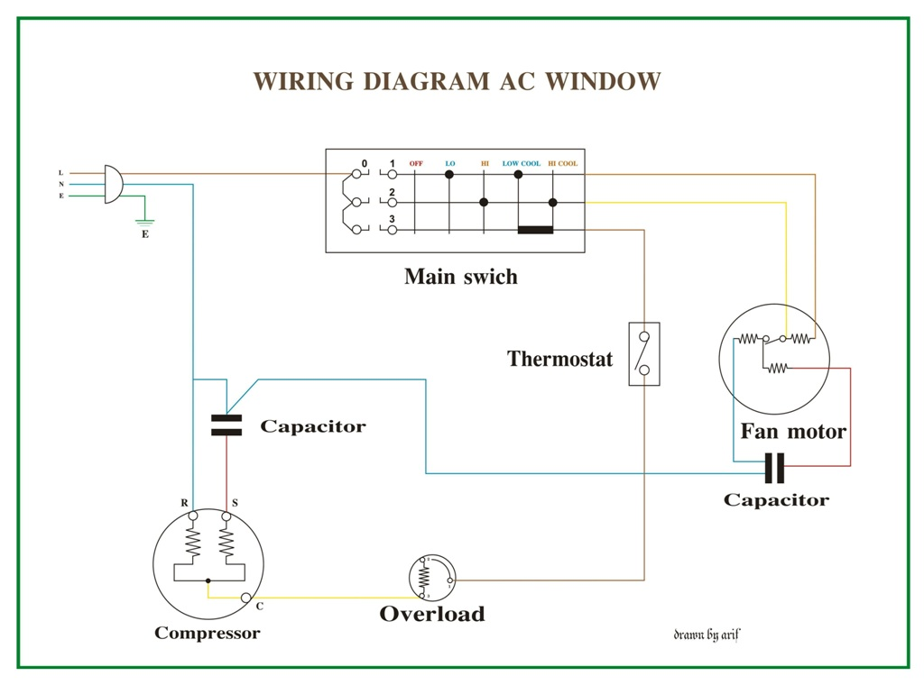 simple ac wiring diagram hb 5893  csr wiring ac wiring diagram of window airconditioner  csr wiring ac wiring diagram of window