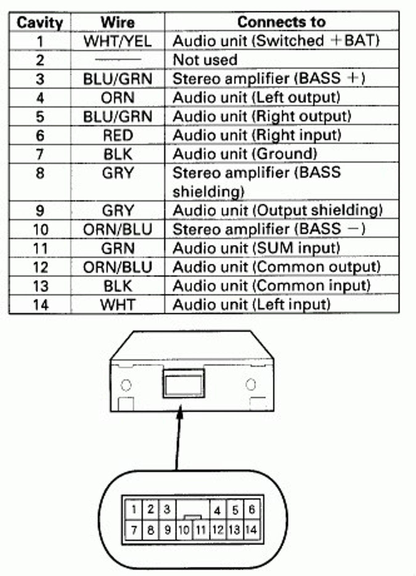 Wiring Diagram For A Kenwood Car Stereo