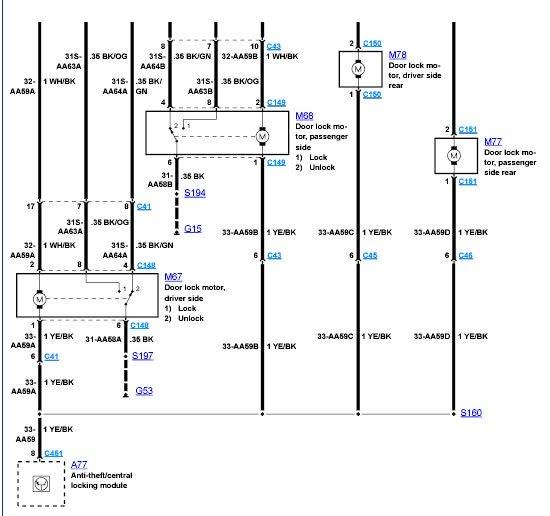 Ford Transit Mk6 Central Locking Wiring Diagram