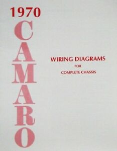 Swell 70 Chevy Camaro Electrical Wiring Diagram Manual 1970 Ebay Wiring Cloud Genionhyedimohammedshrineorg