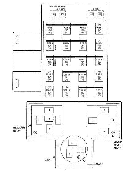 wa6820 2001 pt cruiser headlight wiring diagram schematic