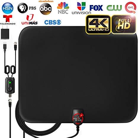 Admirable Amazon Com 2019 Latest Amplified Hd Digital Tv Antenna Long 65 80 Wiring Cloud Loplapiotaidewilluminateatxorg