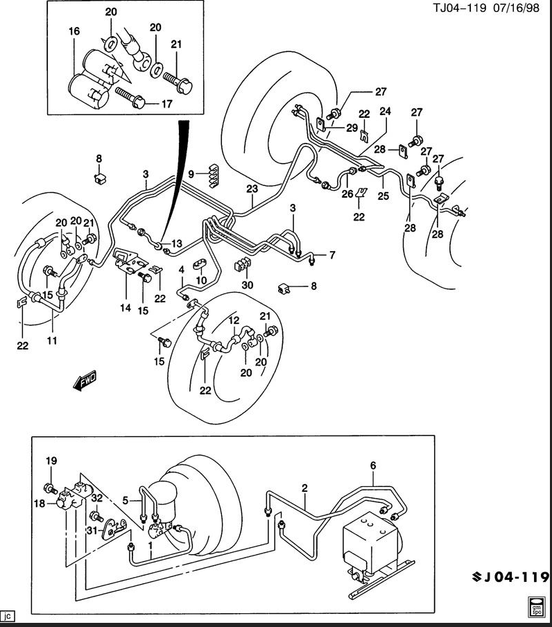 Sn 0380  Brake Line Routing On 2003 Chevy Cavalier Rear Bumper Parts Diagram Free Diagram