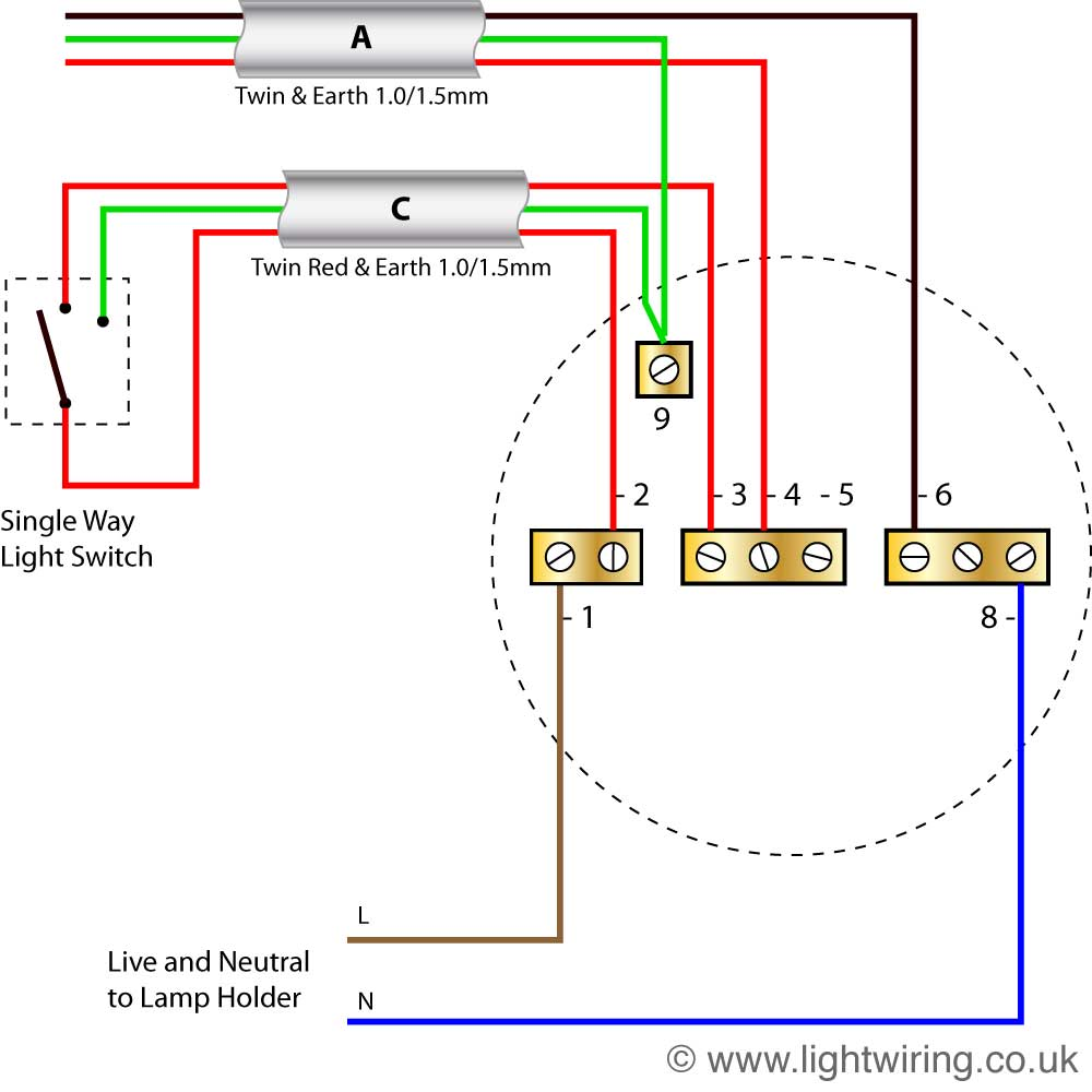 Marvelous How To Wire A Ceiling Light Ceiling Rose Wiring Diagrams Diagram Wiring Cloud Dulfrecoveryedborg
