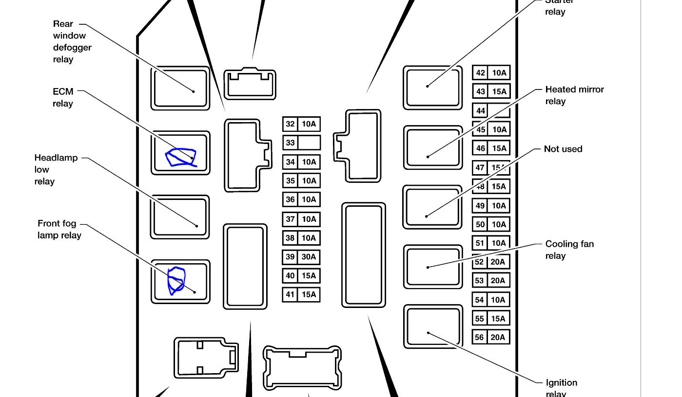 2013 Nissan Pathfinder Fuse Box Diagram