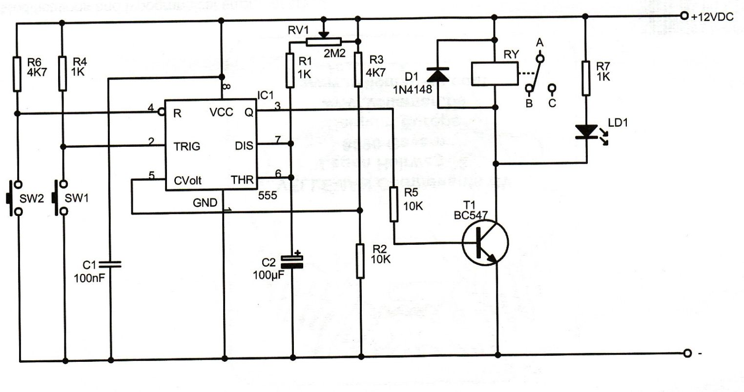 Nk 5348 Off Delay Timer Relay Circuit Together With Off Delay Timer Circuit Free Diagram