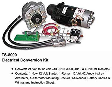 Awesome Amazon Com John Deere Alternator Starter Conversion Kit 3010 3020 Wiring Cloud Gufailluminateatxorg
