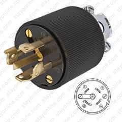 Strange Hubbell Hbl45215 Ac Plug Non Nema 30A 5Wire 600V Wiring Cloud Timewinrebemohammedshrineorg
