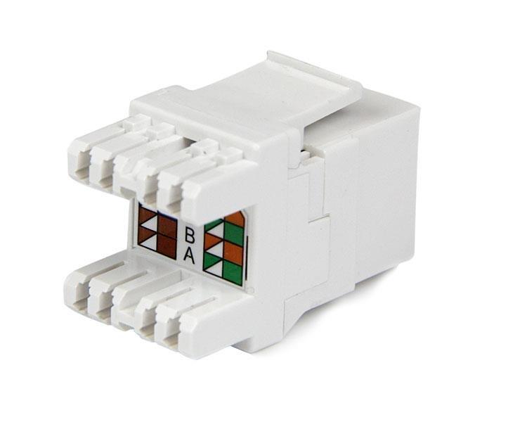 Strange Cat6 Keystone Rj45 Ethernet 180 Degree 110 Type Startech Com Wiring Cloud Hemtshollocom