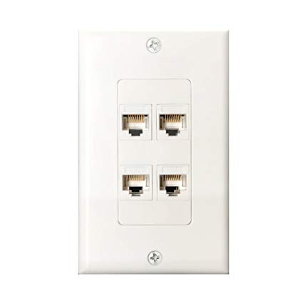 Incredible Amazon Com 4Port Cat6 Wall Plate And Keystone Fly Tiger Rj45 Jack Wiring Cloud Dulfrecoveryedborg