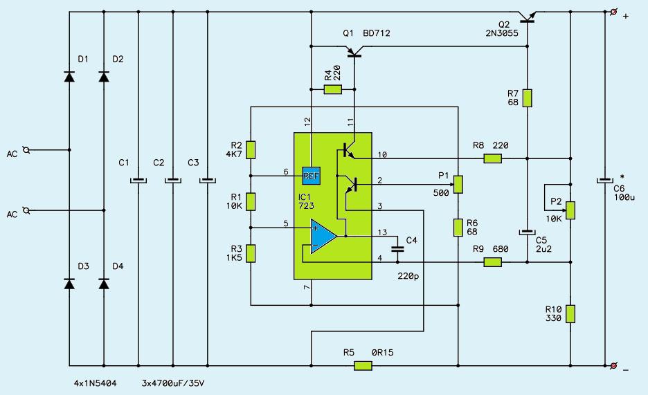 Awe Inspiring 1V 27V 3A Variable Dc Power Supply Circuit Diagram Power Supply Wiring Cloud Itislusmarecoveryedborg