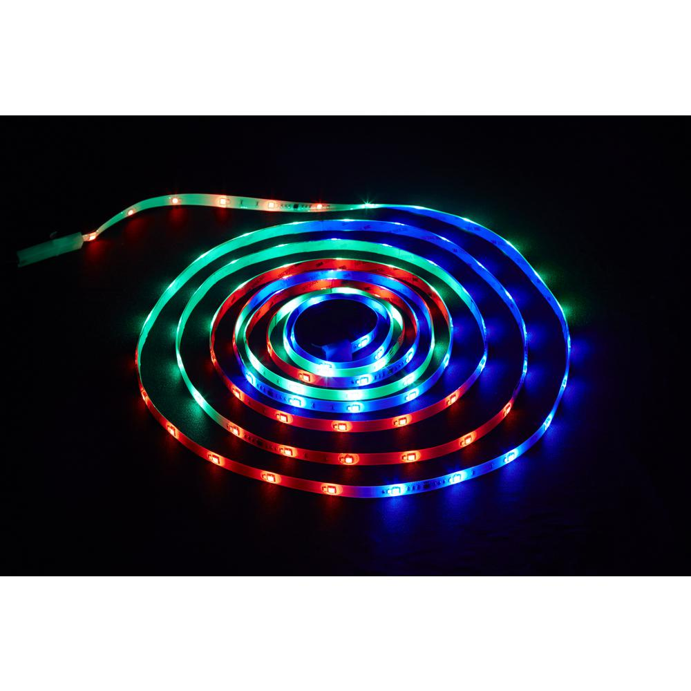 Surprising Commercial Electric 18 Ft Led Connectible Indoor Outdoor Color Wiring Cloud Hemtshollocom