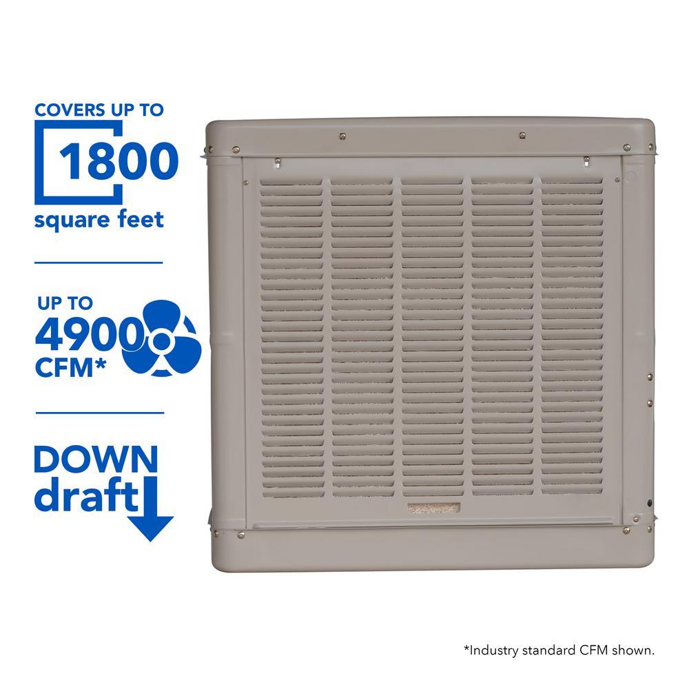 Remarkable Champion Cooler 4900 Cfm Down Draft Roof Evaporative Cooler For 1800 Wiring Cloud Uslyletkolfr09Org