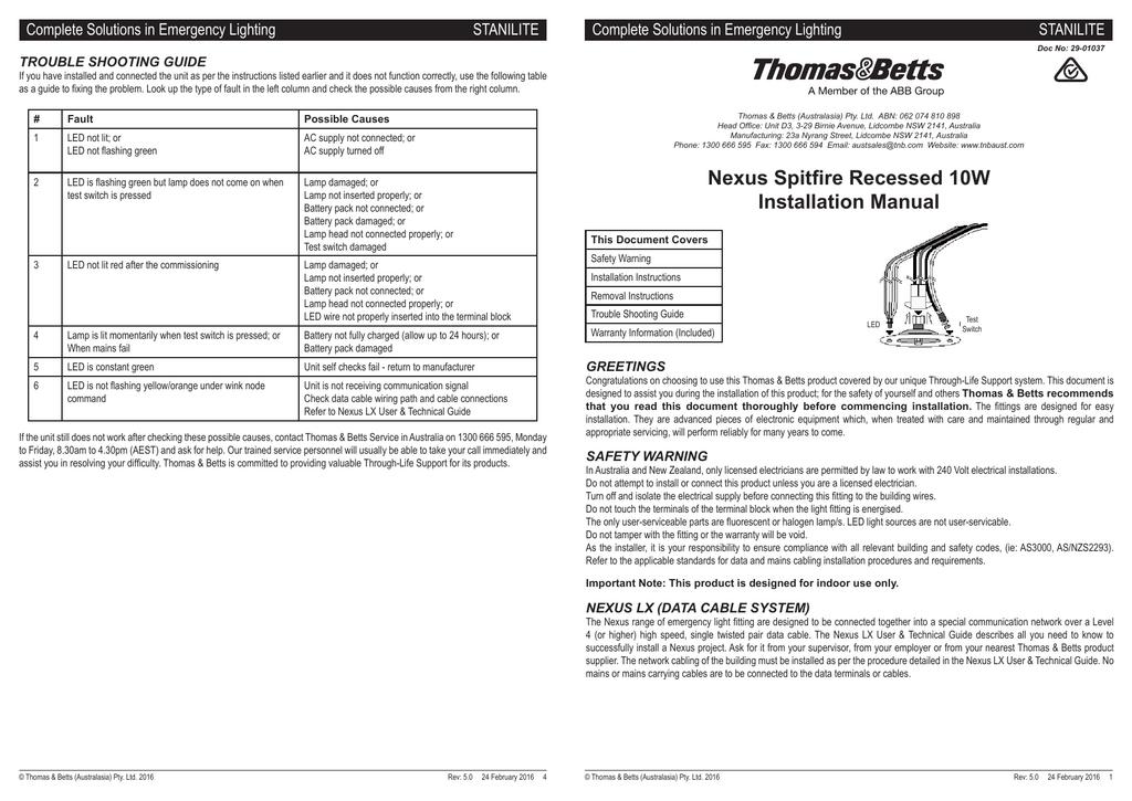 Bn 0582 Abb Emergency Light Test Switch Wiring Diagram
