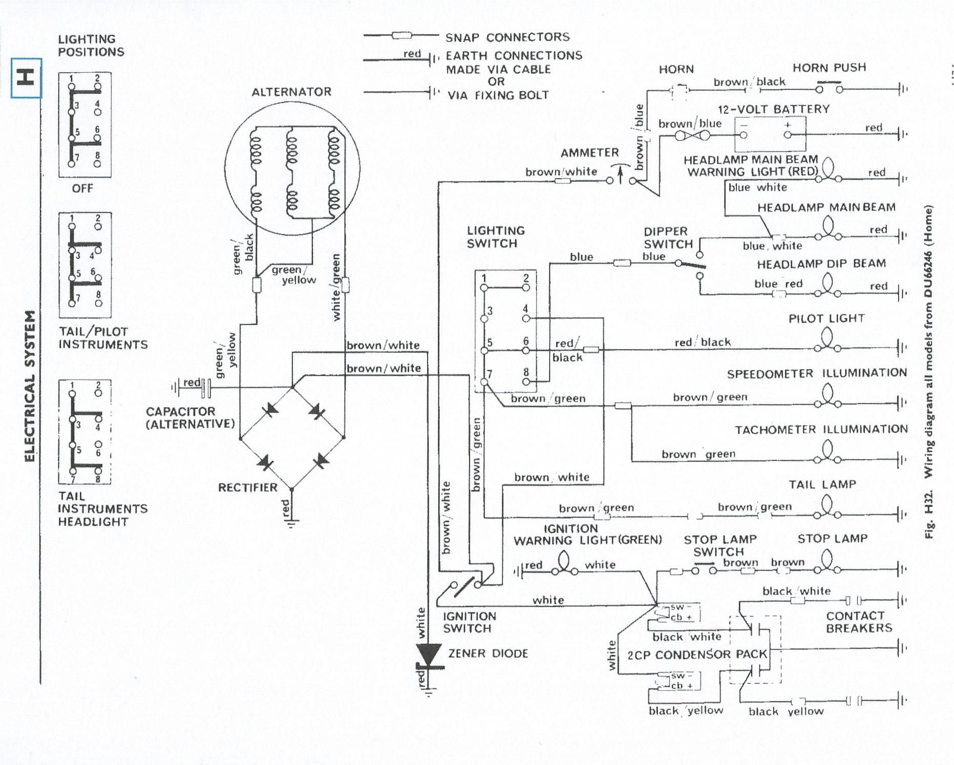 1960 Triumph Tr3 Wiring Diagram