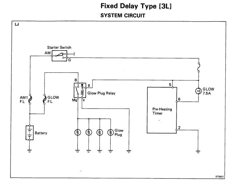 Og 0389 Toyota Glow Plug Wiring Diagram Schematic Wiring