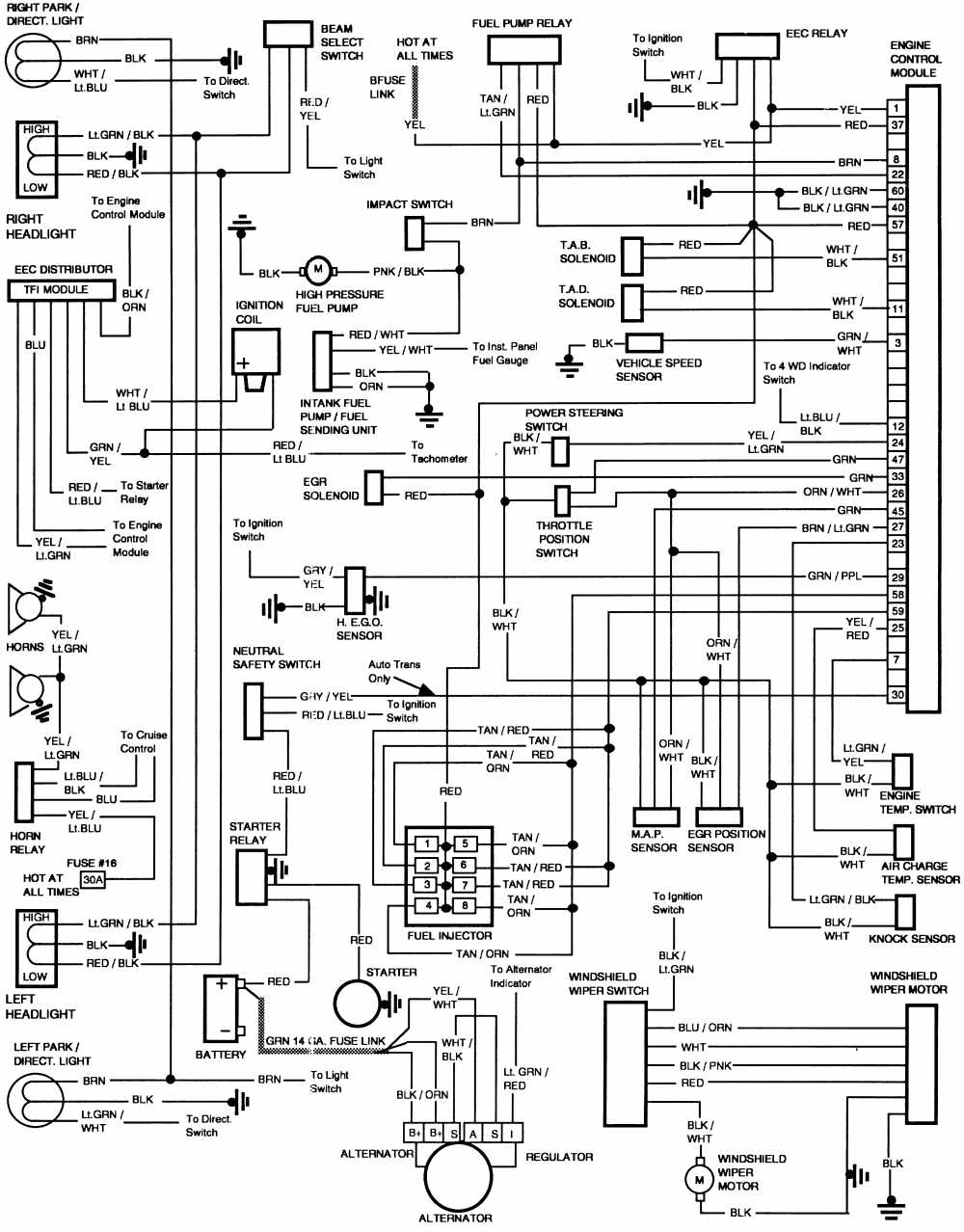 Th 4606 86 F150 4 9l Wiring Diagram Schematic Wiring