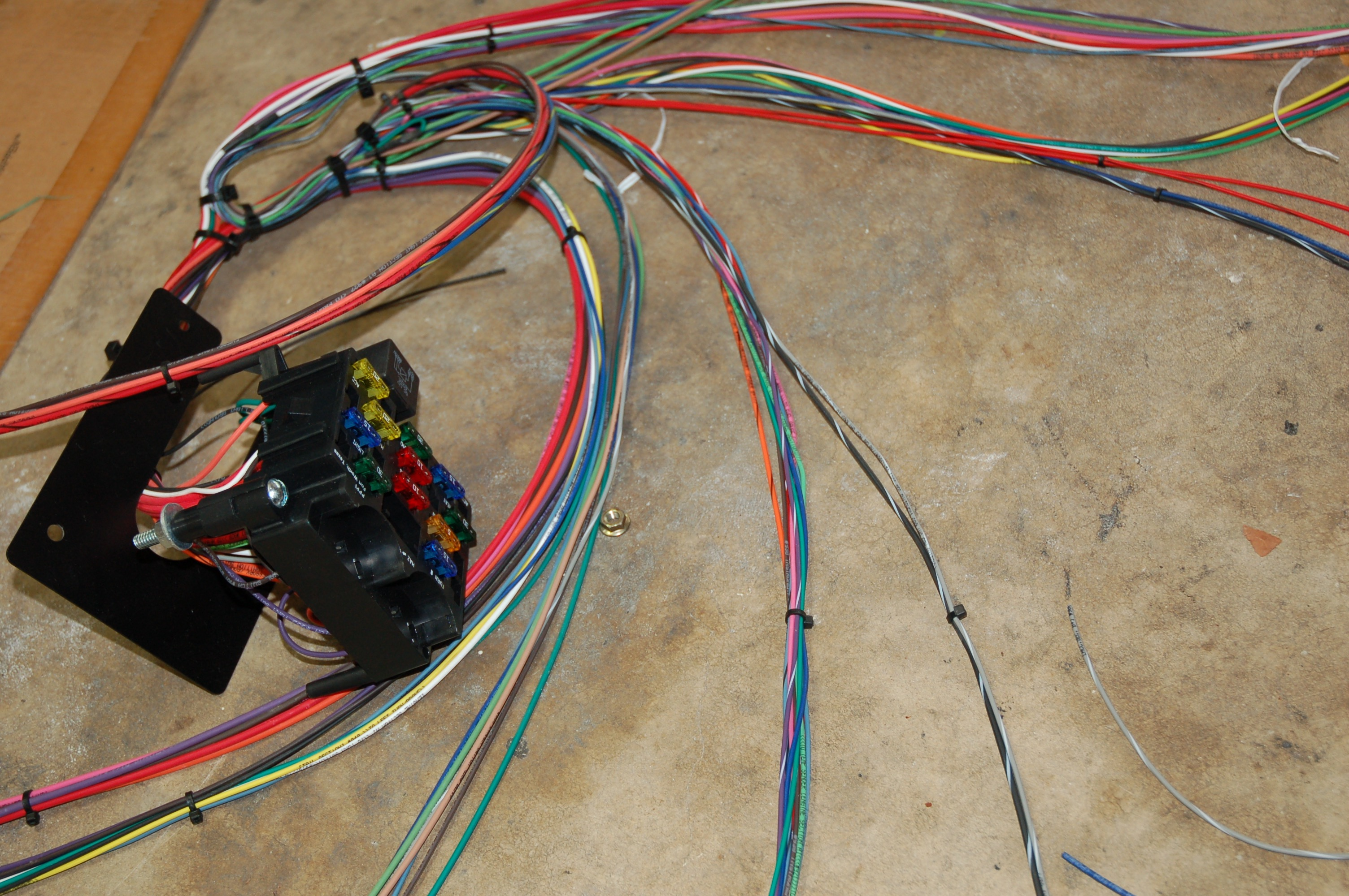 Admirable In Our Garage Installing A New Wiring Harness Hemmings Daily Wiring Cloud Uslyletkolfr09Org