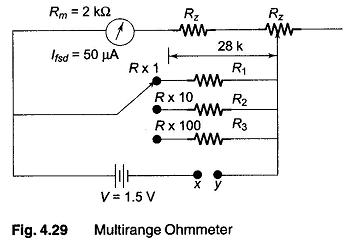 Surprising Multirange Ohmmeter Shunt Type Ohmmeter Calibration Of The Shunt Wiring Cloud Hemtshollocom