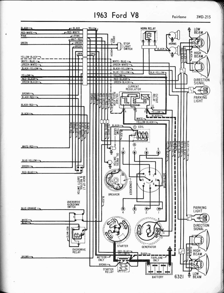 Magnificent 57 65 Ford Wiring Diagrams 1963 V8 Fairlane 1955 Thunderbird And Wiring Cloud Licukshollocom