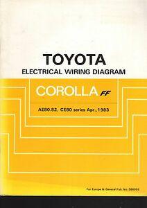 Admirable Toyota Corolla Ae80 82 Ce80 Series April 1983 Electrical Wiring Wiring Cloud Licukaidewilluminateatxorg