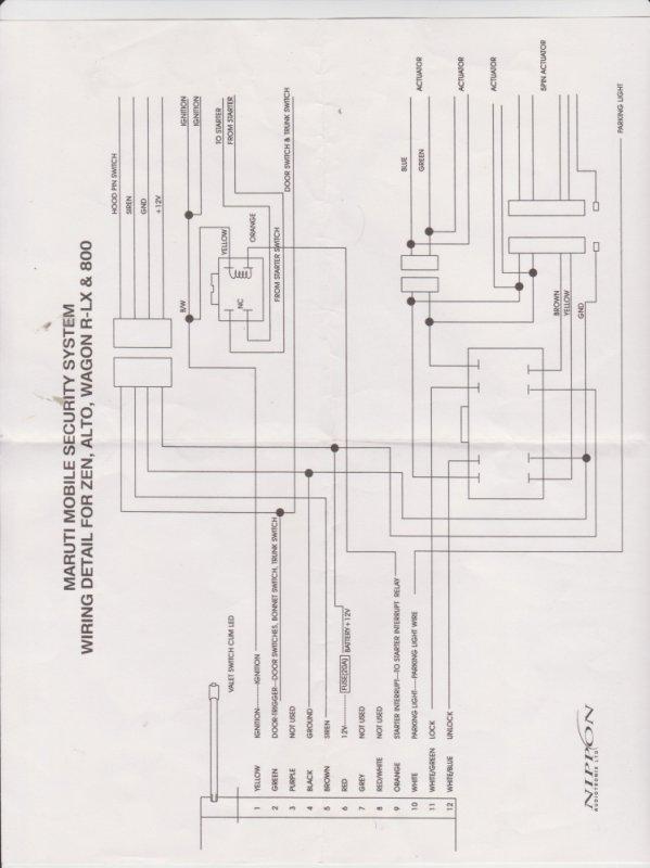 Electrical Wiring Diagram Of Maruti 800 Car