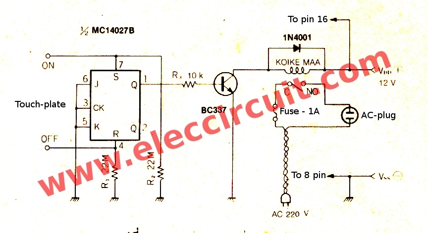 Phenomenal 7 Simple Touch Switch Circuit Projects Eleccircuit Com Wiring Cloud Onicaxeromohammedshrineorg