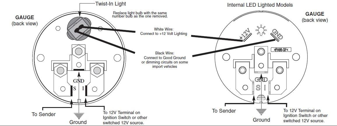 auto meter temp gauge wiring diagram  1987 ford mustang