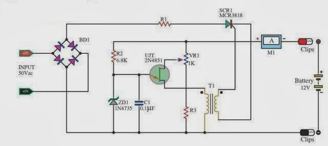 Phenomenal Fully Automatic Battery Charger Circuit Using Lm311 Circuit Wiring Cloud Licukshollocom