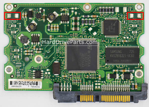 Admirable Seagate Pcb Board 100435196 Rev A 29 99 Wiring Cloud Overrenstrafr09Org