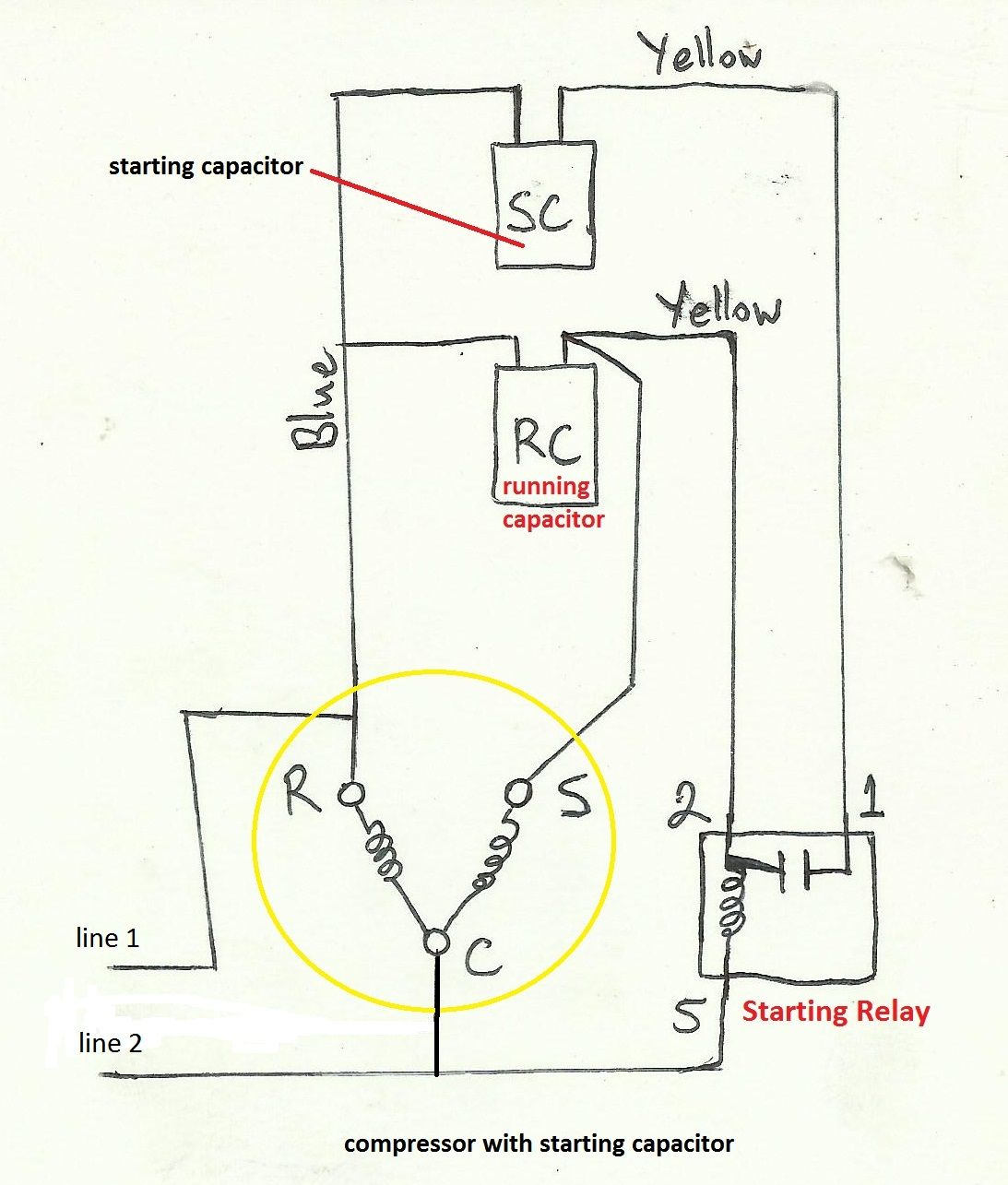 Outstanding Potential Relay Start Capacitor Wiring Diagram Basic Electronics Wiring Cloud Waroletkolfr09Org