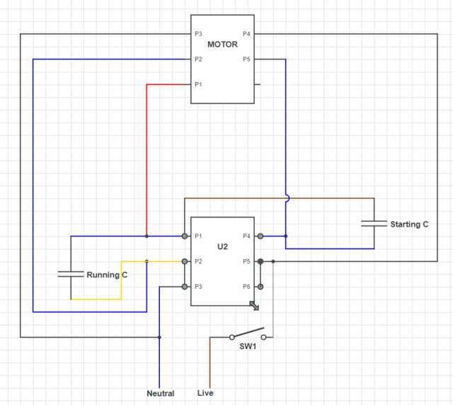 Sensational Electric Motor Single Phase Wiring Diagram Basic Electronics Wiring Cloud Mousmenurrecoveryedborg