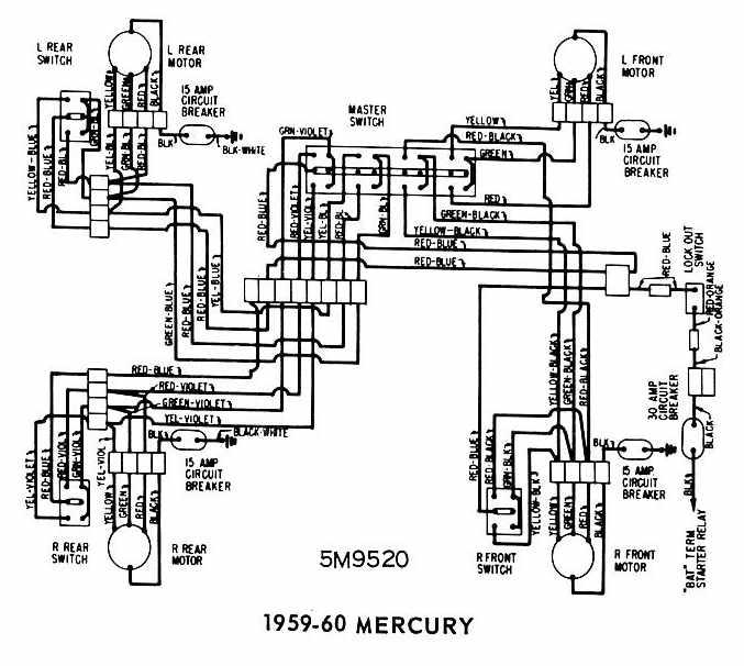 Awesome Mercury 19591960 Windows Wiring Diagram All About Wiring Diagrams Wiring Cloud Lukepaidewilluminateatxorg