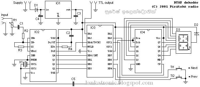 Wondrous The Cm8870 Dtmf Decoder Datasheet Showing A Recommended Circuit Wiring Cloud Hemtshollocom