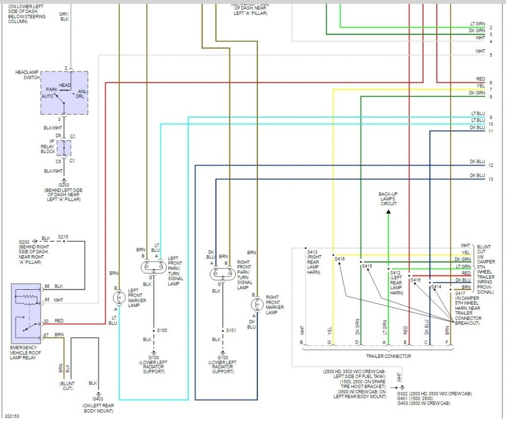 2004 Chevy 2500 Tail Light Wiring Diagram - Wiring Diagram