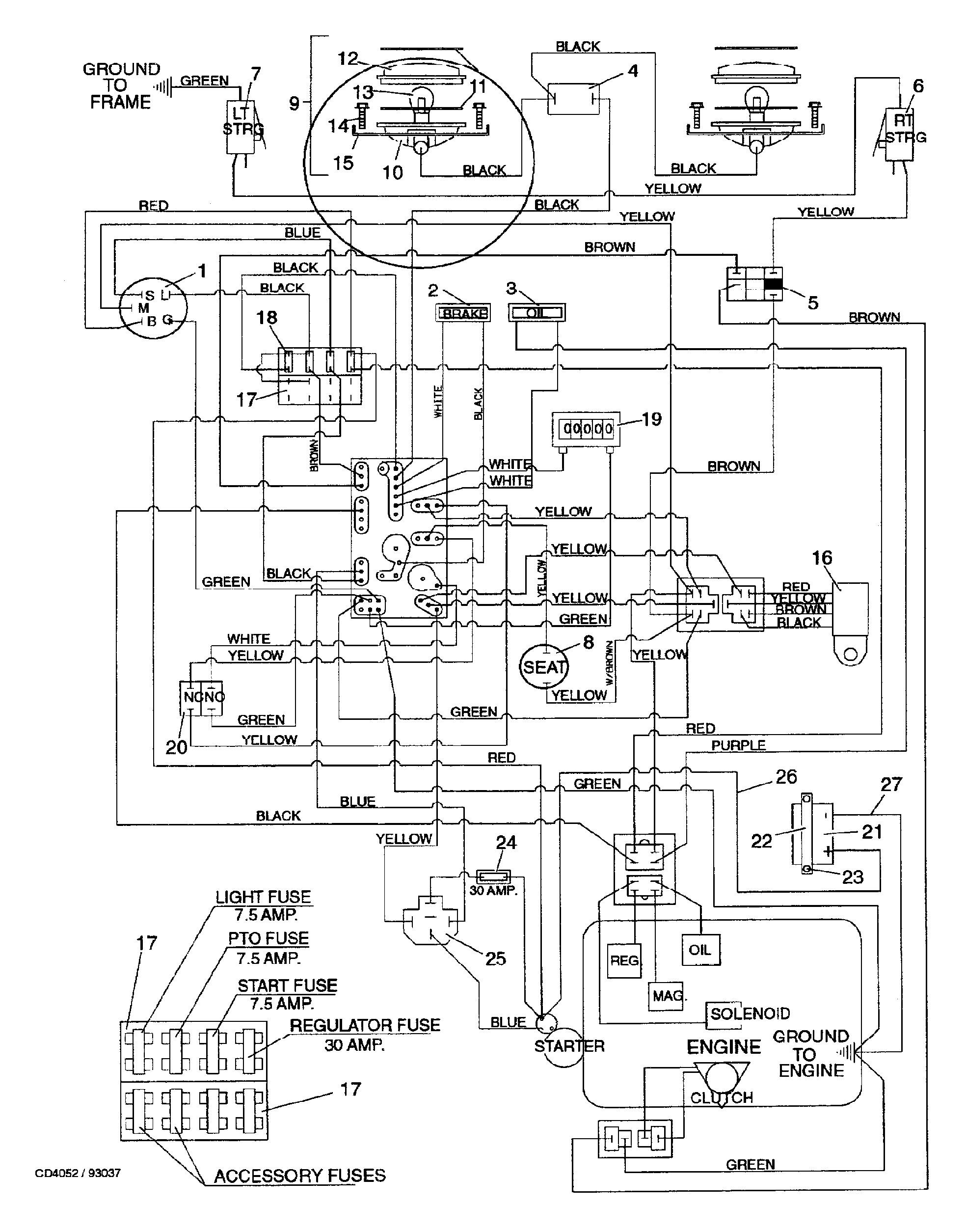 Troy Bilt Riding Mower Wiring Diagram