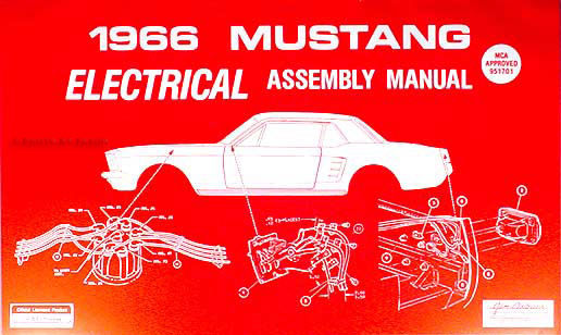 Cool 1966 Ford Mustang Electrical Assembly Manual Reprint Wiring Cloud Monangrecoveryedborg