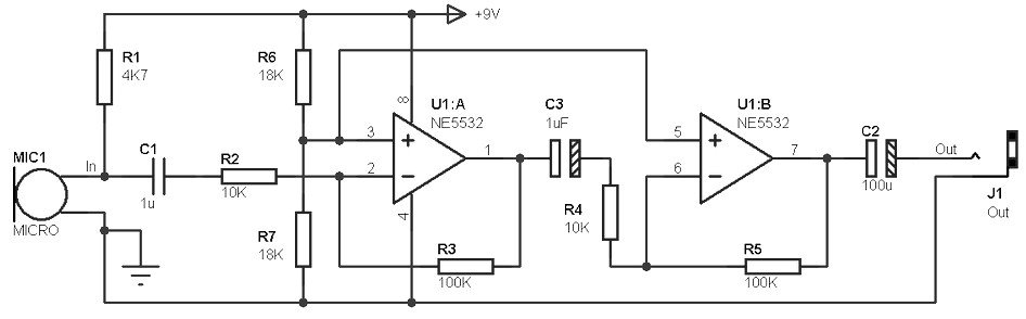 Excellent Mono Preamp Based On Cmos Ic Cd4069 Wiring Diagram Panel Wiring Cloud Overrenstrafr09Org
