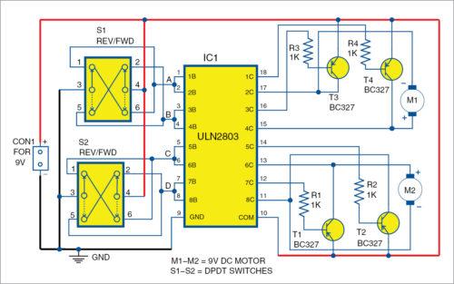 Strange Uln2803 Based Motor Driver Circuit Full Electronics Project Wiring Cloud Uslyletkolfr09Org