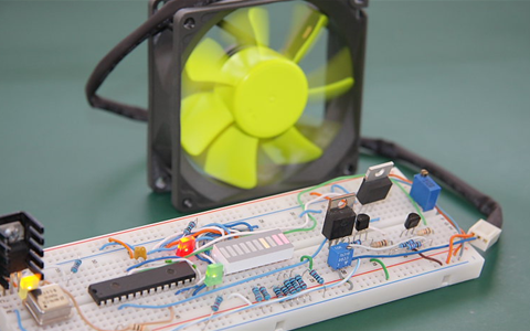 Brilliant Temperature Controlled Fan Using 8051 Microcontroller Wiring Cloud Domeilariaidewilluminateatxorg