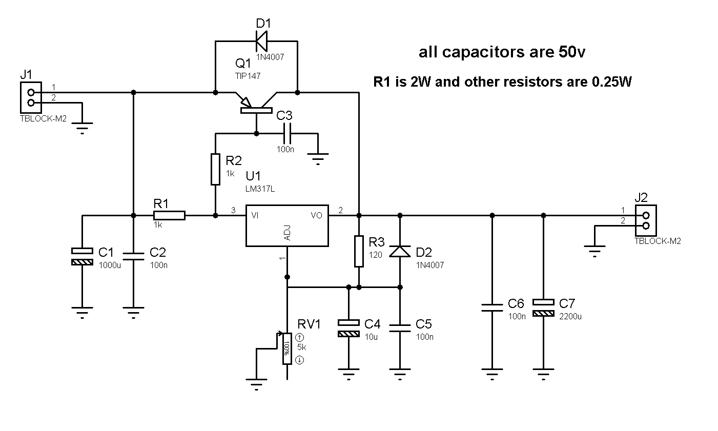 Excellent 1 2 36V 5A Adjustable Power Supply With Lm317 Electronice In 2019 Wiring Cloud Uslyletkolfr09Org