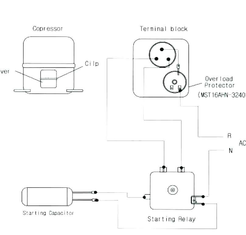 mw8676 compressor start relay wiring diagram download diagram