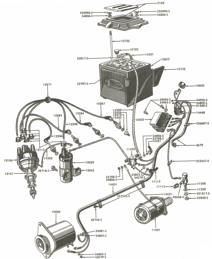 Xs 5080 Diagram As Well Ford 8n 12 Volt Conversion Wiring Diagram On 8n Ford Wiring Diagram