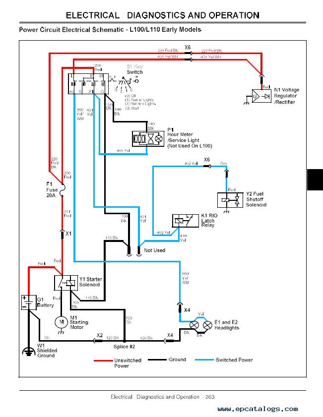 John Deere L100 Wiring Diagram