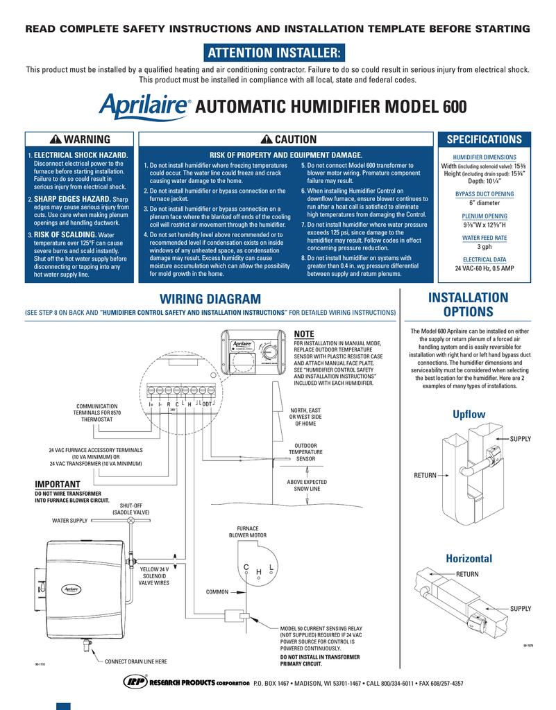 RV_1429] Aprilaire 600 Automatic Wiring Diagram Schematic WiringLibrar Wiring 101