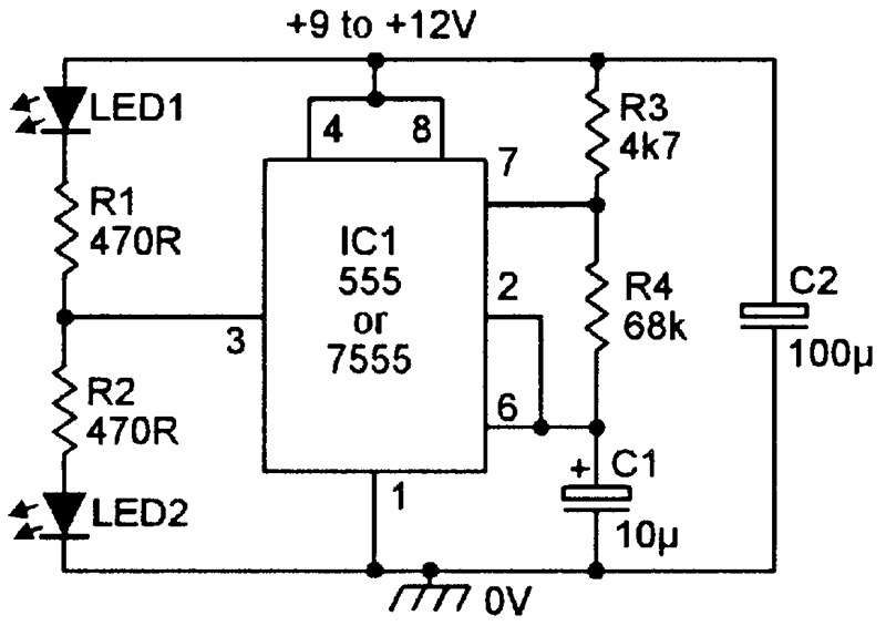 Phenomenal Practical Led Indicator And Flasher Circuits Nuts Volts Magazine Wiring Cloud Lukepaidewilluminateatxorg