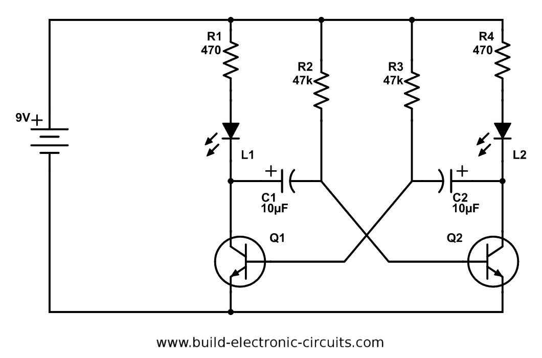 Outstanding Blinking Led Circuit With Schematics And Explanation Wiring Cloud Timewinrebemohammedshrineorg